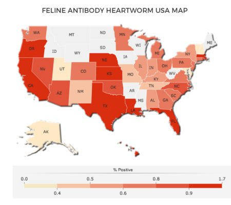 US Heartworm map